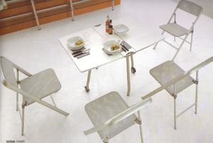 Calligaris Alu Dining Chairs
