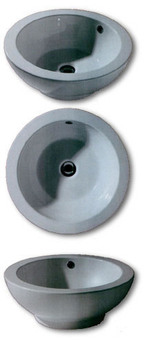 White Stone Art Bathroom Washbasins