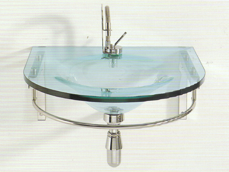 Arvex bathroom sinks in smoky verde crystal glass or trasparente, wall ...