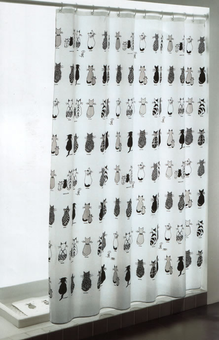Gedy Cats Shower Curtain