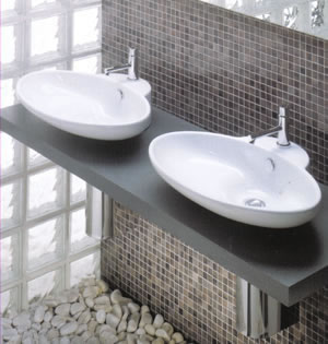 Art Ceram Fuori 3 Countertop Bathroom Basins