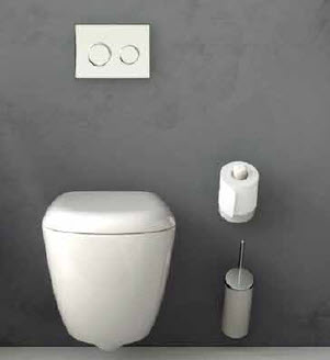 Art Ceram Postit Toilet Brush Holders