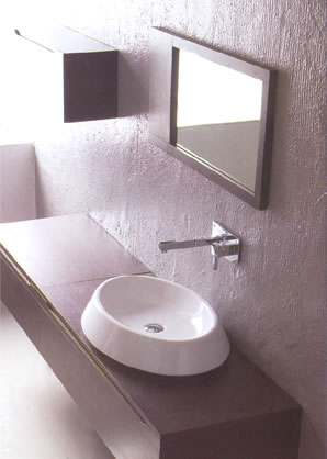Ceramica Esedra Flat Bathroom Basins