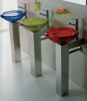 Glass Basins, Bathroom Taps, Designer Bathroom, Contemporary Bathrooms, Bathroom Showers
