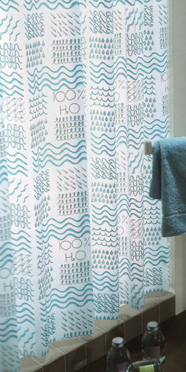 Gedy H20 Shower Curtain