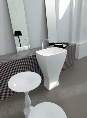 Art Ceram Jazz Freestanding Bathroom Sinks