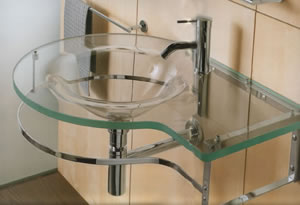 Open Kristallux Single Glass Sinks