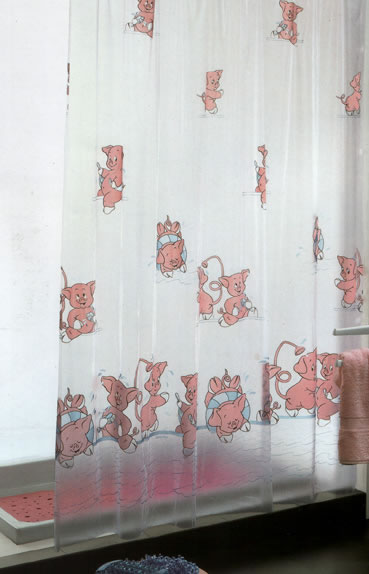 Gedy Pigs Shower Curtain