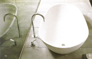agape spoon :  contemporary home tub bath tub