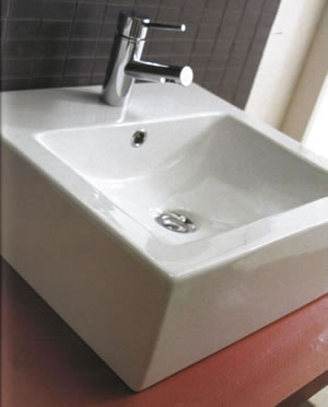 Scarabeo Square Bathroom Sinks