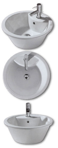 White Stone Sun Bathroom Basins