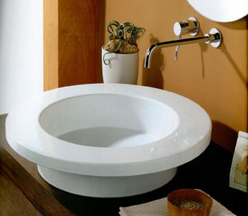 White Stone Tex Bathroom Basins